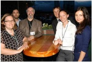 Elicia Ratajcyzk (EVstudio), Bill Turner (UCD), Dr. Mark Gelernter (UCD), Aaron Nelson (Alliance for a Sustainable Colorado), Jill Reily (UCD) & Anya Litvinova (RMCAD).