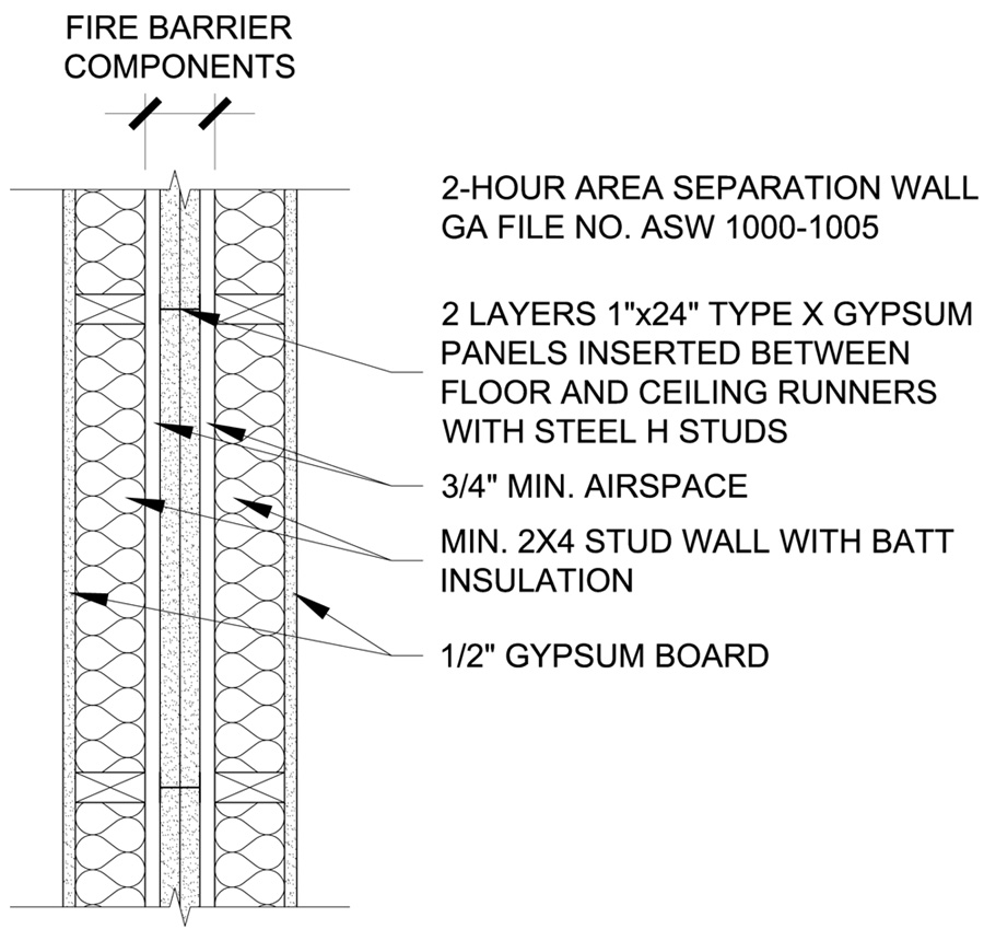 Fire Rated Wall Details : Fire rated ceiling assembly « systems