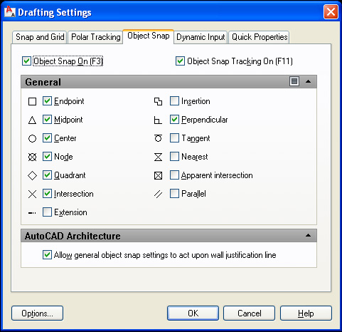 osnap-settings
