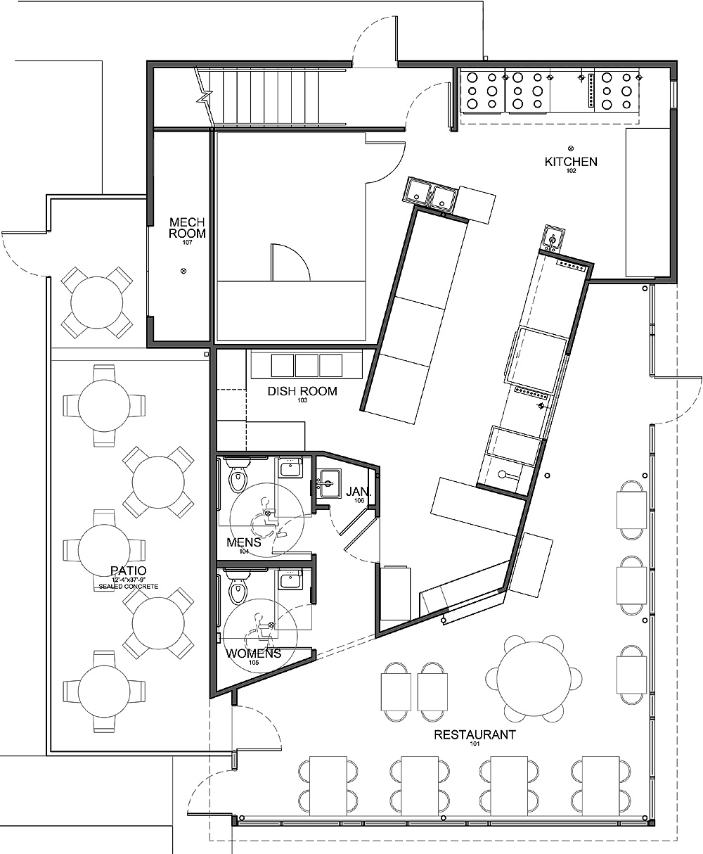 Small Restaurant Kitchen Floor Plan