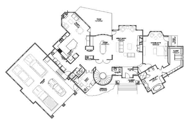 A Highly Specific Program-Driven Floor Plan