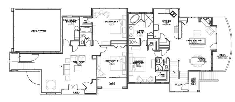 Home designs residential house plans for Residential floor plans