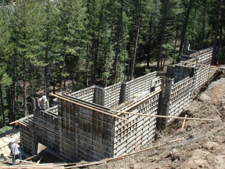 Aluminum Foundation Forms at the Patella Residence