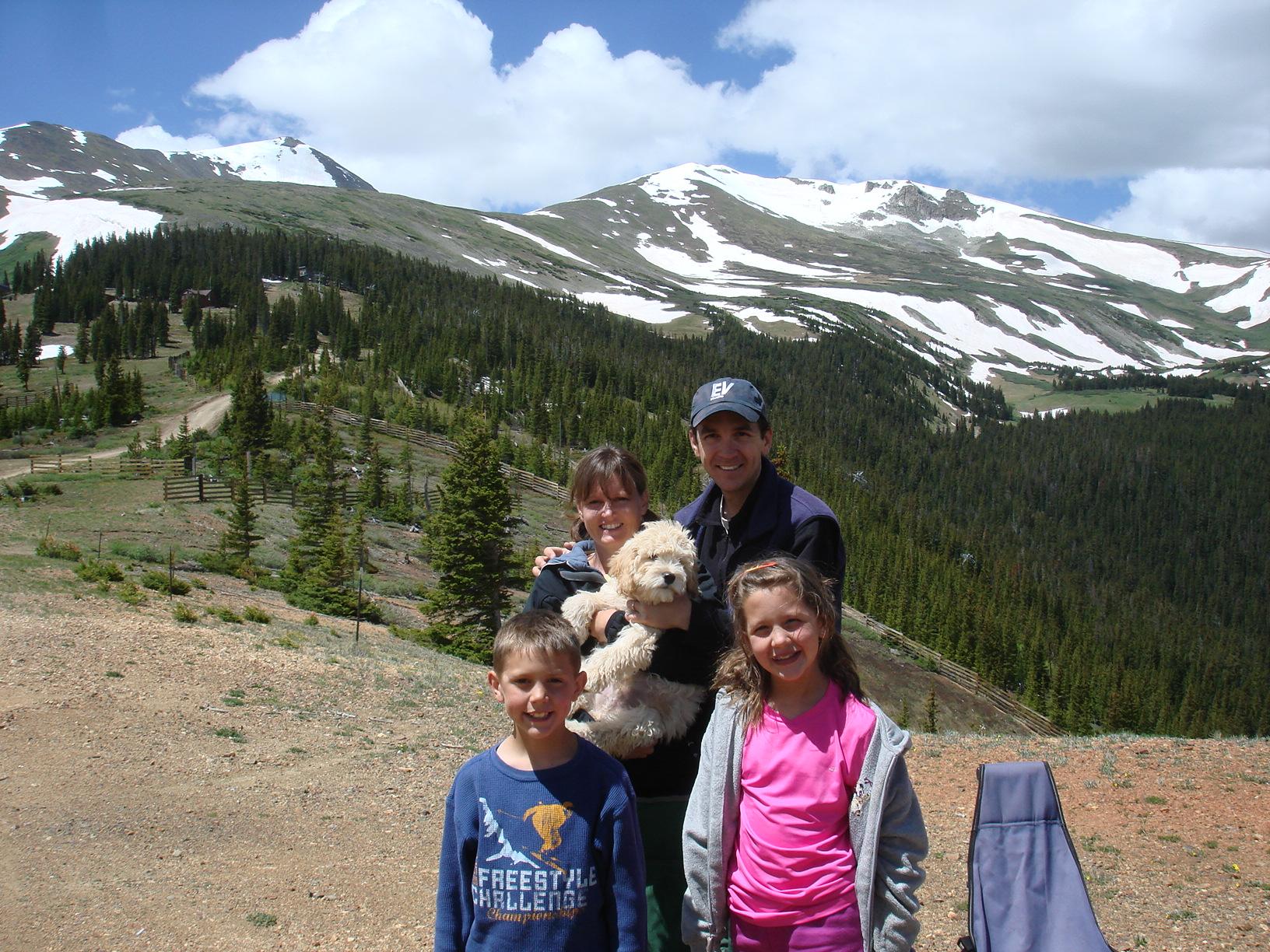 Dean and family on Peak 9, Breckenridge