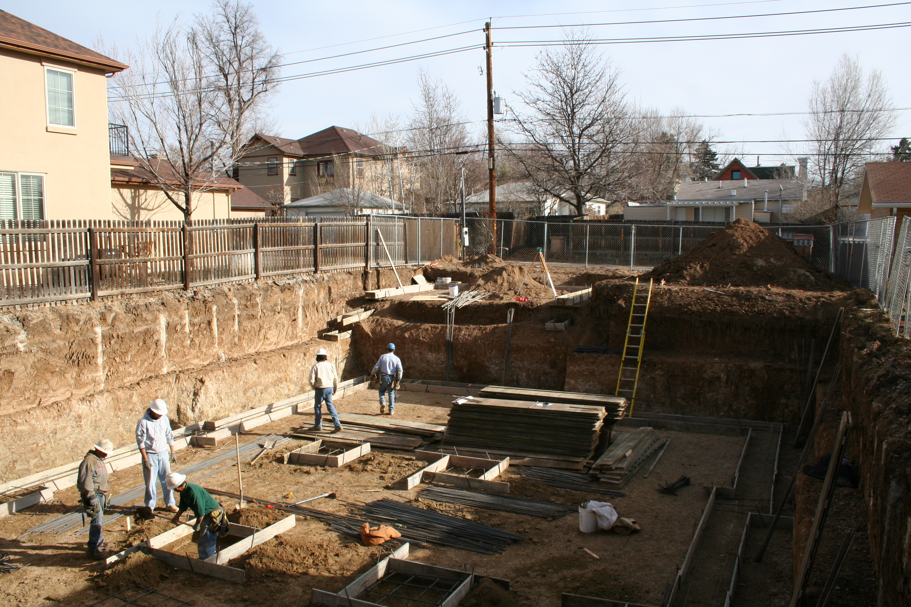 Shoring at the Excavation Perimeter at the Mapleview Project