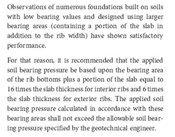 Structural Engineer's Decision On Soil Bearing Area Used For
